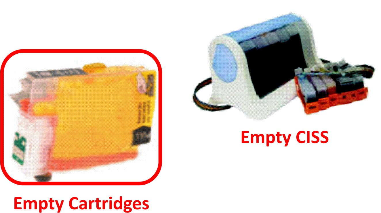 Empty Cartridges & CISS for Sublimation Printing